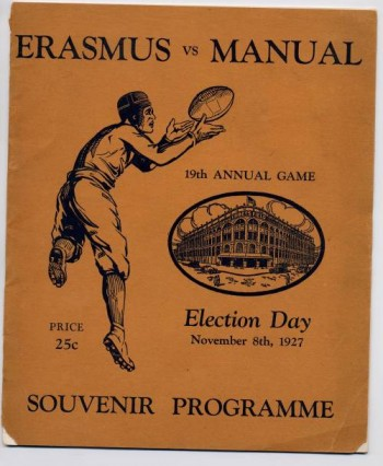Image for Erasmus vs Manual, Souvenir Programme; 19th Annual Game, Election Day November 8th, 1927